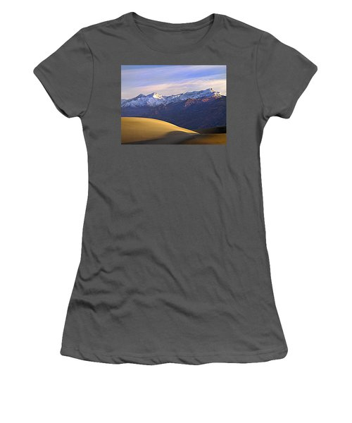 Snow On The Grapevine Range.  Women's T-Shirt (Athletic Fit)