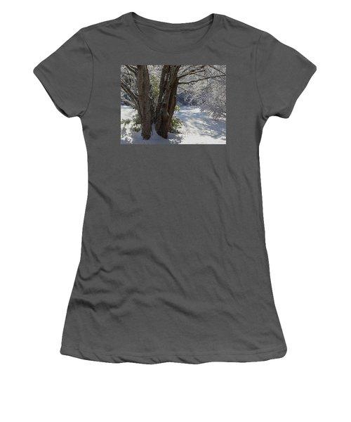 Snow Sparkles Women's T-Shirt (Athletic Fit)