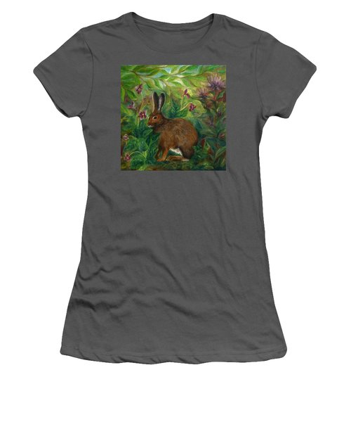 Snowshoe Hare Women's T-Shirt (Athletic Fit)