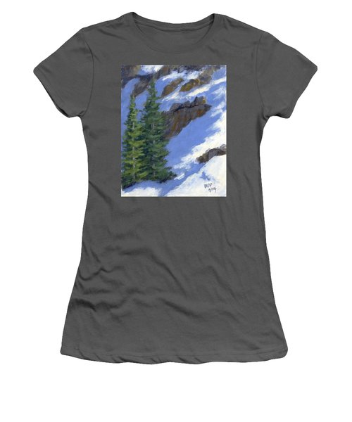 Snowy Slope Women's T-Shirt (Athletic Fit)