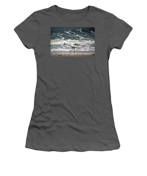 Snowy White Egret Women's T-Shirt (Junior Cut) by Kim Pate