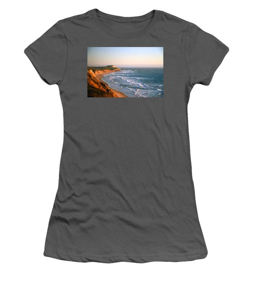 Women's T-Shirt (Athletic Fit) featuring the photograph Socal Coastline Sunset by Clayton Bruster