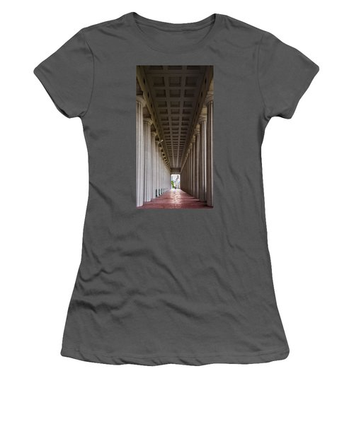 Soldier Field Colonnade Women's T-Shirt (Junior Cut) by Steve Gadomski