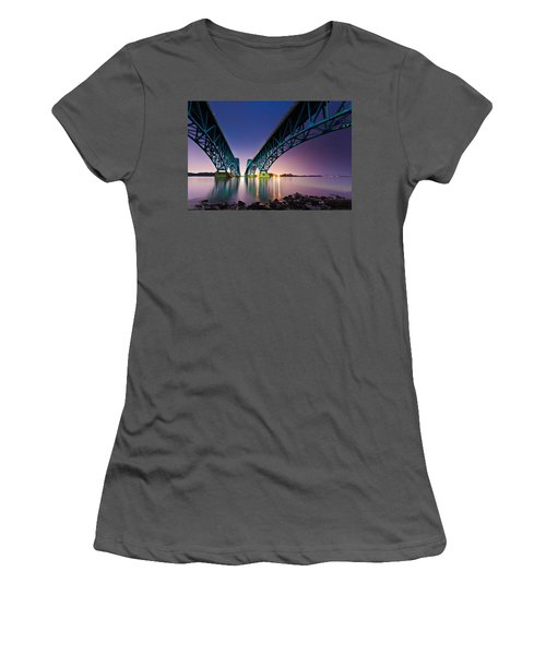 South Grand Island Bridge Women's T-Shirt (Junior Cut) by Mihai Andritoiu