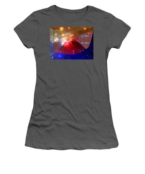 Space Odyssey 08 Women's T-Shirt (Junior Cut) by Ron Davidson