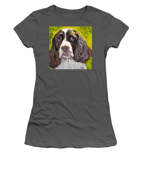 Spaniel The Eyes Have It Women's T-Shirt (Athletic Fit)