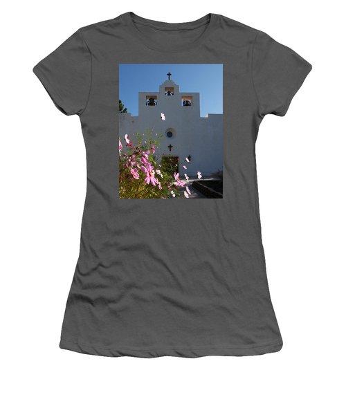 Women's T-Shirt (Junior Cut) featuring the photograph Spanish Mission by Susan Rovira