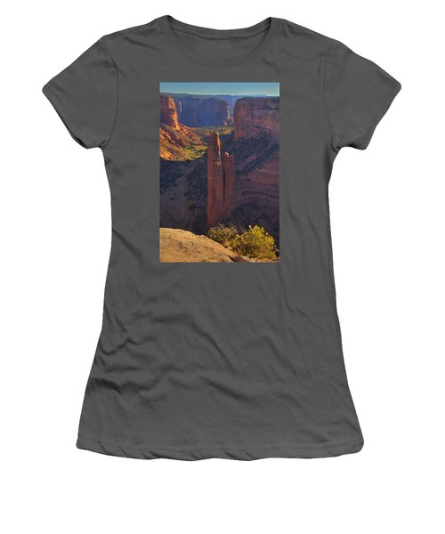 Women's T-Shirt (Junior Cut) featuring the photograph Spider Rock by Alan Vance Ley