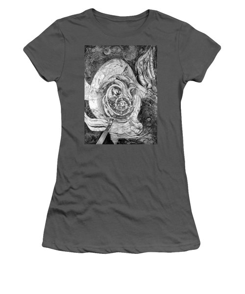 Women's T-Shirt (Junior Cut) featuring the painting Spiral Rapture 2 by Otto Rapp