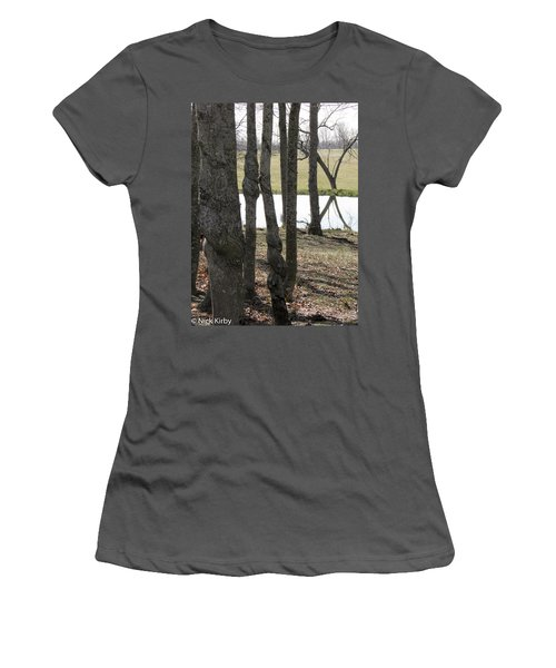 Women's T-Shirt (Junior Cut) featuring the photograph Spiral Trees by Nick Kirby