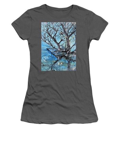Spooky Mood Women's T-Shirt (Junior Cut) by Evelina Popilian