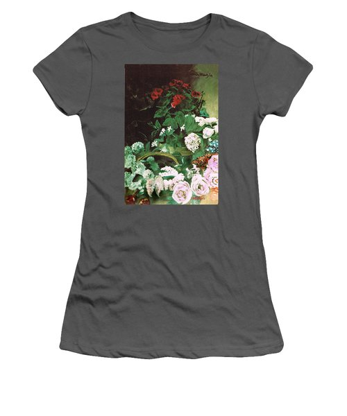 Spring Flowers Study Of Monet Women's T-Shirt (Athletic Fit)