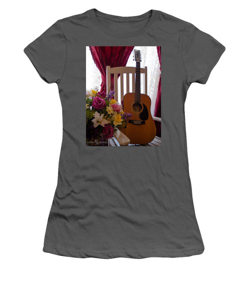 Spring Guitar Women's T-Shirt (Athletic Fit)