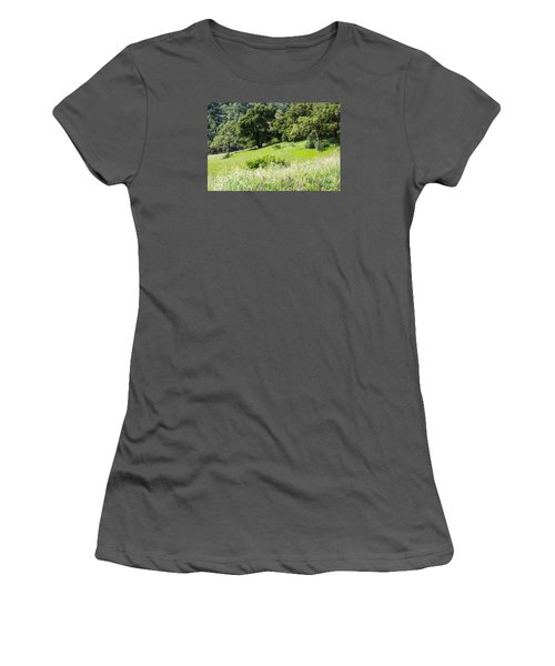 Women's T-Shirt (Junior Cut) featuring the photograph Spring Hike by Suzanne Luft