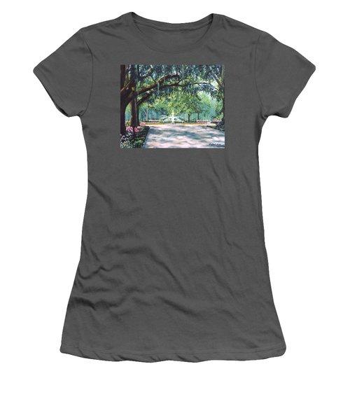 Spring In Forsythe Park Women's T-Shirt (Junior Cut) by Stanton Allaben