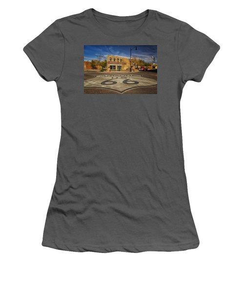 Standing On The Corner In Winslow Arizona Dsc08854 Women's T-Shirt (Athletic Fit)