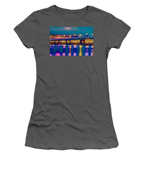 Starry Night At Nationals Park Women's T-Shirt (Athletic Fit)