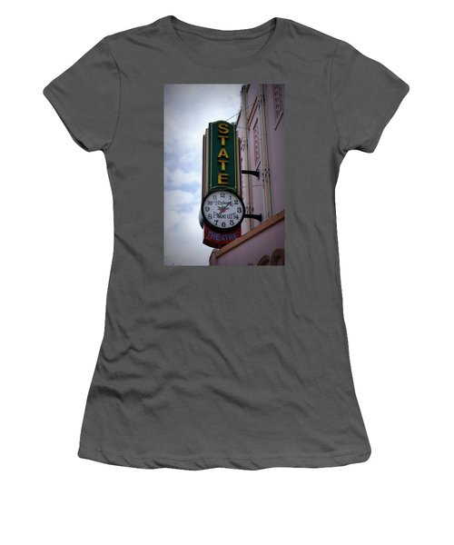 State Theatre Sign Women's T-Shirt (Junior Cut) by Laurie Perry
