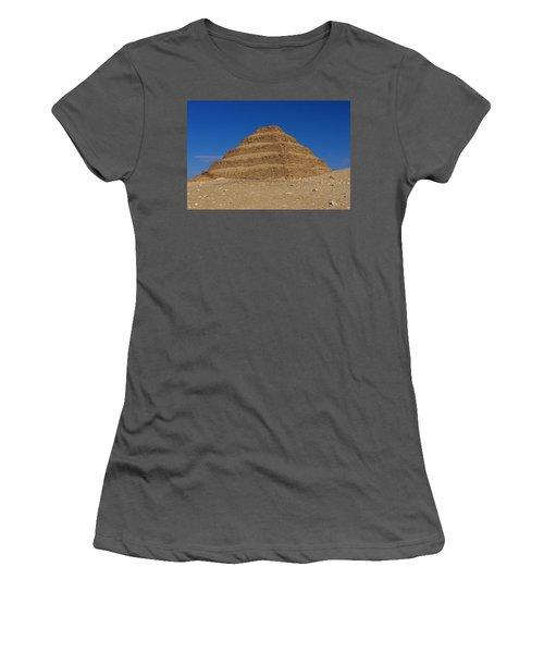 Step Pyramid Of King Djoser At Saqqara  Women's T-Shirt (Athletic Fit)