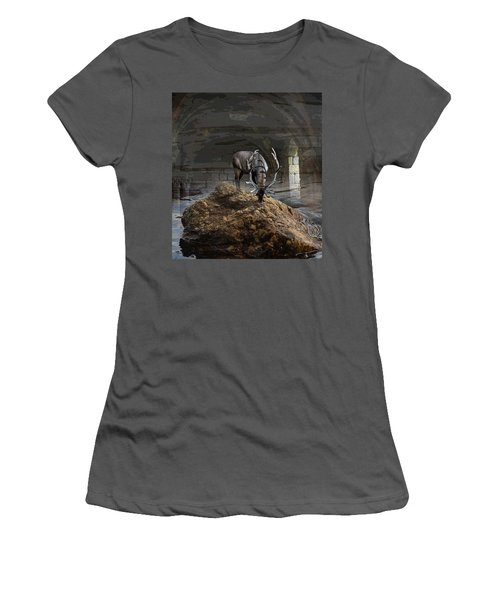 Stillness Women's T-Shirt (Junior Cut) by Yvonne Wright