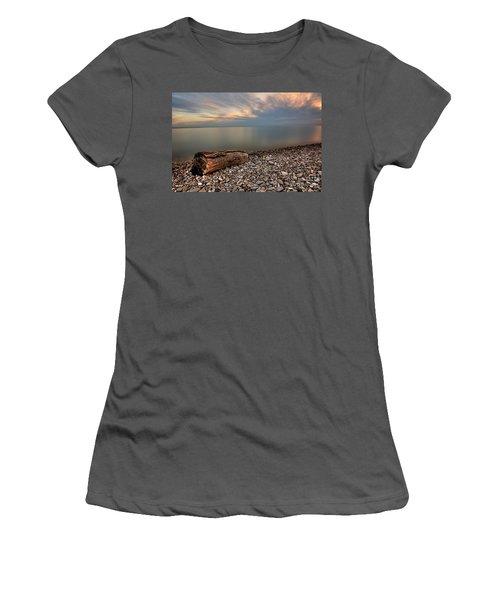 Stone Beach Women's T-Shirt (Junior Cut) by James Dean