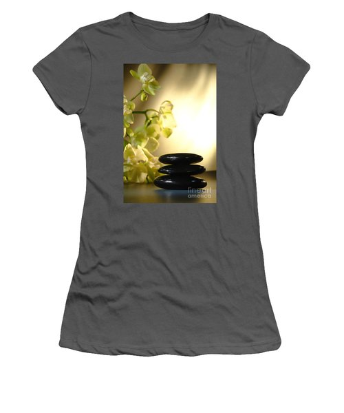 Stone Cairn And Orchids Women's T-Shirt (Athletic Fit)