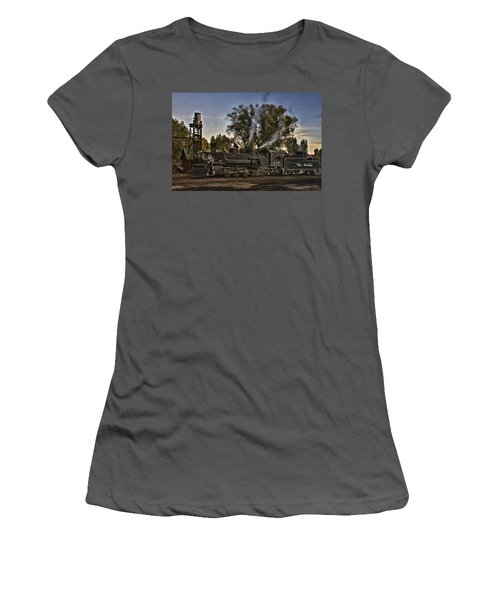 Women's T-Shirt (Junior Cut) featuring the photograph Stopped At Chama by Priscilla Burgers