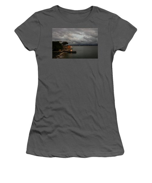 Women's T-Shirt (Junior Cut) featuring the photograph Stormy Puerto Rico  by Georgia Mizuleva