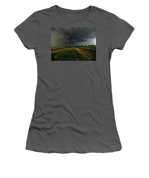 Stormy Road Ahead Women's T-Shirt (Junior Cut) by Ed Sweeney