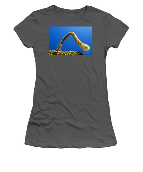 Strange Plant Under Blue Sky Women's T-Shirt (Athletic Fit)
