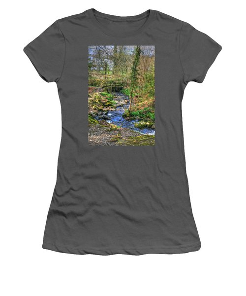 Women's T-Shirt (Junior Cut) featuring the photograph Stream In Wales by Doc Braham