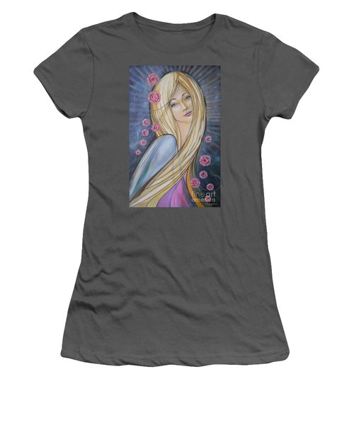 Sun And Roses 081008 Women's T-Shirt (Athletic Fit)