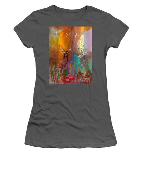 Sun Deer Women's T-Shirt (Athletic Fit)