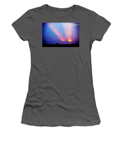 Sun Rays At Sunset Women's T-Shirt (Athletic Fit)