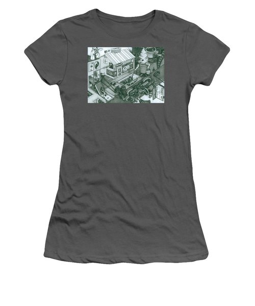 A Sundae In The Park With George Women's T-Shirt (Athletic Fit)