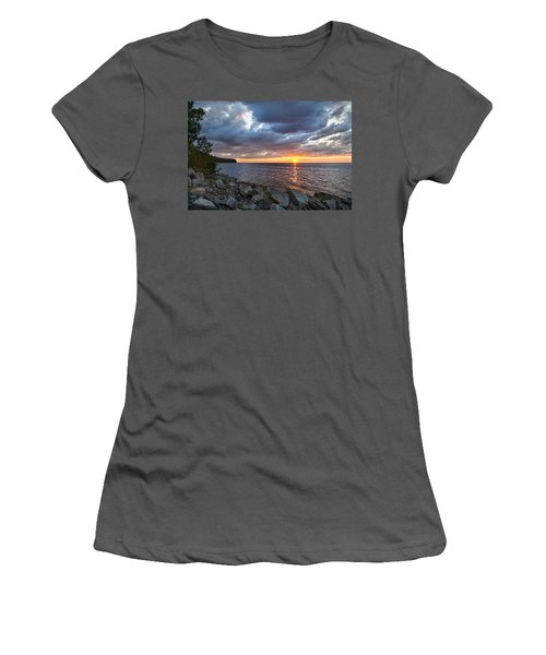 Sundown Bay Women's T-Shirt (Junior Cut) by Bill Pevlor