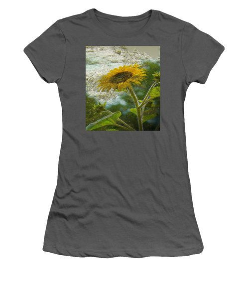 Sunflower Mountain Women's T-Shirt (Athletic Fit)