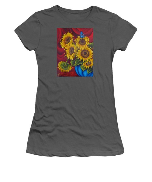 Sunflowers Women's T-Shirt (Junior Cut) by Katia Aho