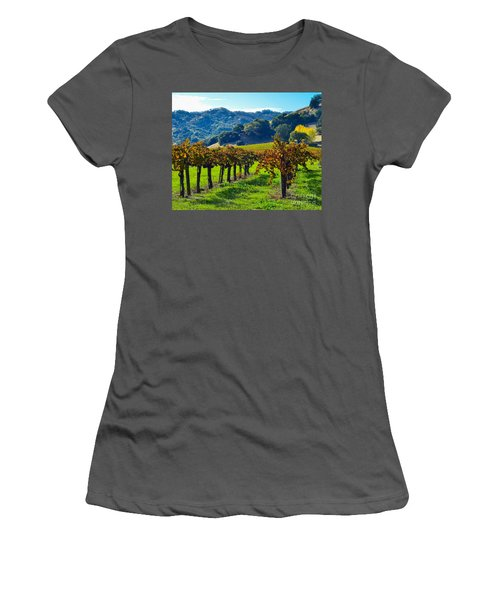 Sunny Autumn Vineyards Women's T-Shirt (Athletic Fit)