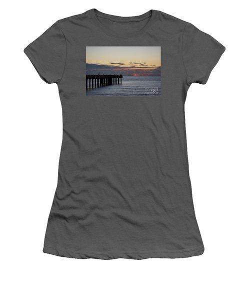 Women's T-Shirt (Junior Cut) featuring the photograph Sunny Isles Fishing Pier Sunrise by Rafael Salazar