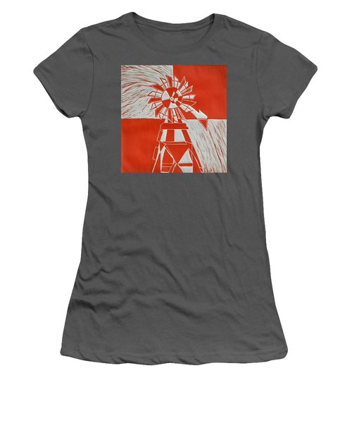 Sunny Windmill Women's T-Shirt (Athletic Fit)