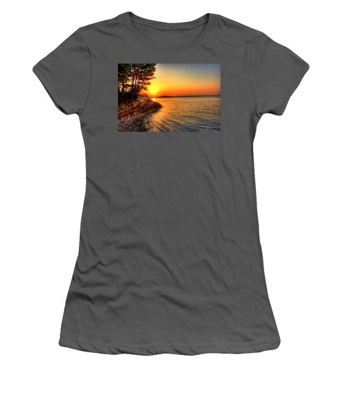 Sunrise Around The Bend Women's T-Shirt (Athletic Fit)