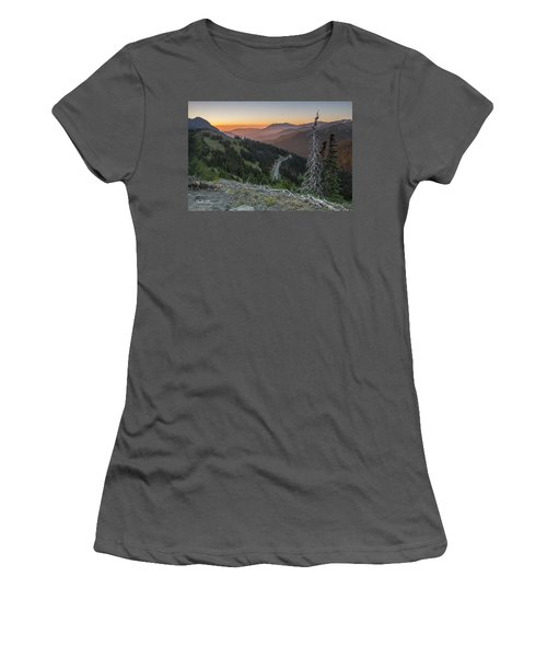 Sunrise At Hurricane Ridge - Sunrise Peak Women's T-Shirt (Athletic Fit)