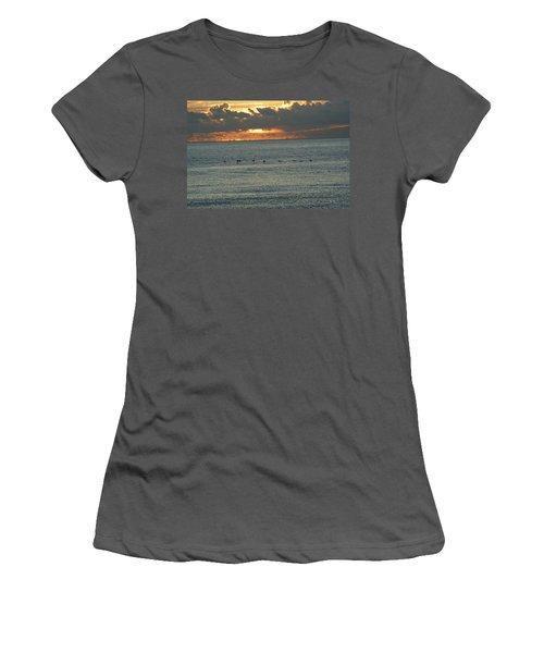 Women's T-Shirt (Junior Cut) featuring the photograph Sunrise In Florida Riviera by Rafael Salazar