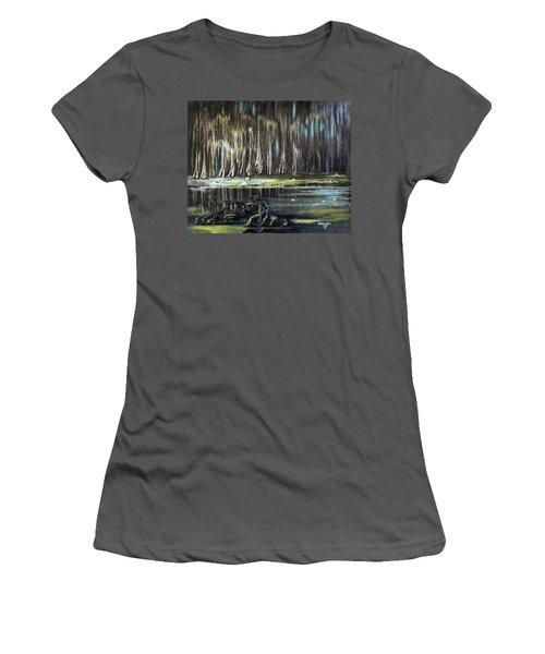 Sunrise On The Bayou Women's T-Shirt (Athletic Fit)