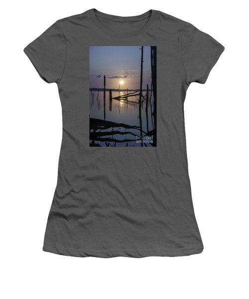 Sunrise Over Manasquan Reservoir Women's T-Shirt (Athletic Fit)