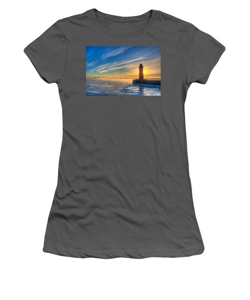 Sunrise Pierhead Women's T-Shirt (Athletic Fit)