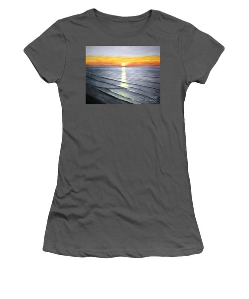 Women's T-Shirt (Junior Cut) featuring the painting Sunrise by Stacy C Bottoms
