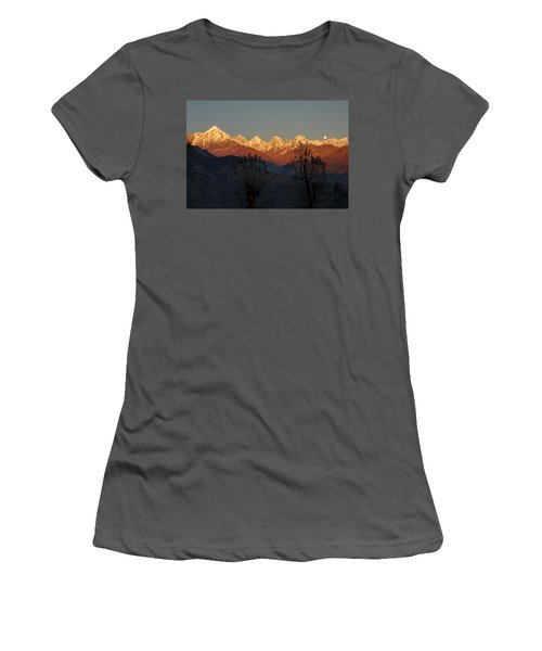 Sunset And Moonrise. The Rendezvous. Women's T-Shirt (Athletic Fit)