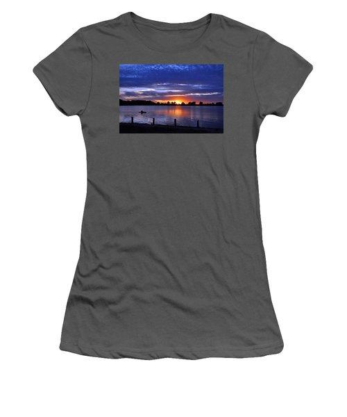 Sunset At Creve Coeur Park Women's T-Shirt (Athletic Fit)